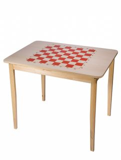 Wooden chess table with no pieces