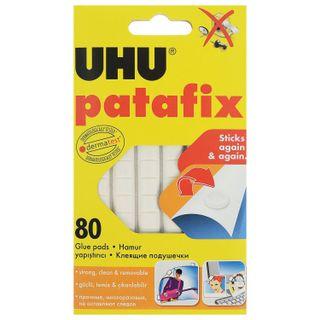 UHU / Patafix adhesive pads without trace, reusable, white, 80 pcs.