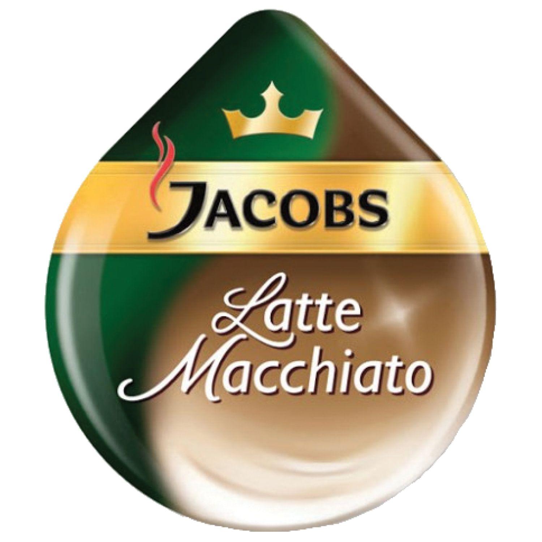 "TASSIMO / Capsules for coffee machines JACOBS ""Latte Macchiato"", natural coffee 8 pcs. x 8 g, milk capsules 8 pcs. x 21.7 g"