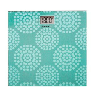 SCARLETT / Floor scales SC-BS33E073, electronic, maximum load 180 kg, square, glass with a picture