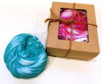 Handmade soap New Year's month - mix of colors