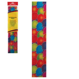 Colored paper crepe balls stretching to 25%, 22 g/m2, BRAUBERG, Euro slot, 50/200 cm