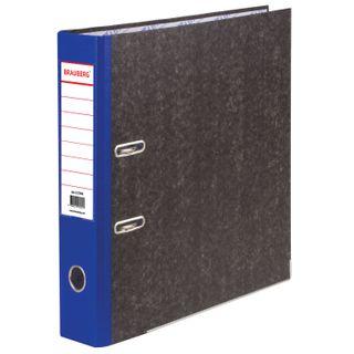 Folder-Registrar BRAUBERG, marble flooring, A4 +, content, 70 mm, blue spine