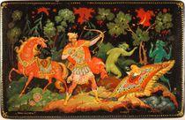Kholui art varnish miniature Ivan Tsarevich