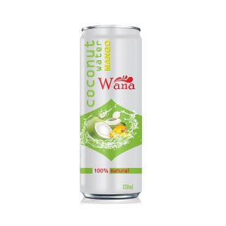 Bulk Best Price Coconut water with Pineapple 320ml Canned