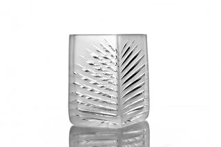 "Crystal vase for flowers ""Meschera"" low colorless"