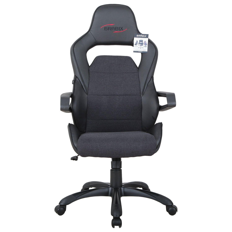 "Computer chair BRABIX ""Nitro GM-001"", fabric, eco-leather, black"