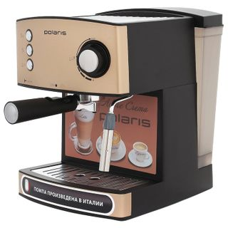 Coffee maker carob POLARIS PCM 1527E, 850 W, volume 1.5 liters, 15 bar, hand capuinator, beige