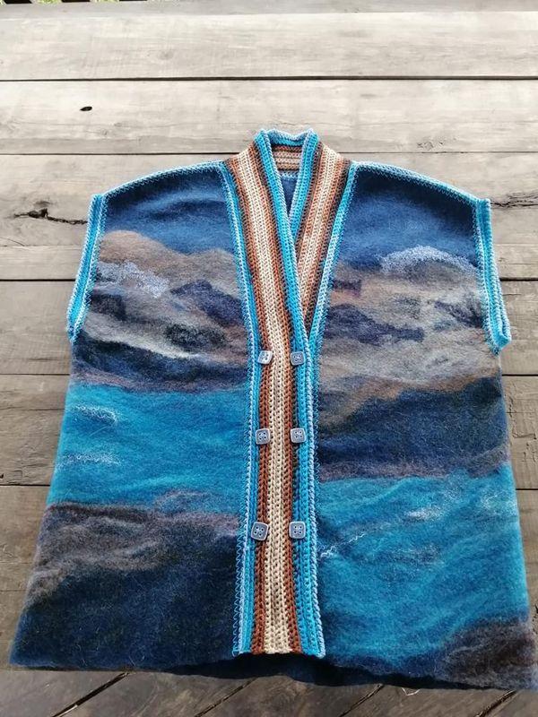 Felted vest, handmade
