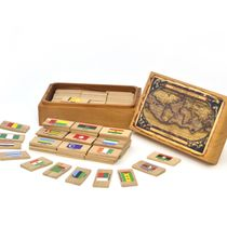 """Memori """"Continents. Africa"""" in a wooden box"""