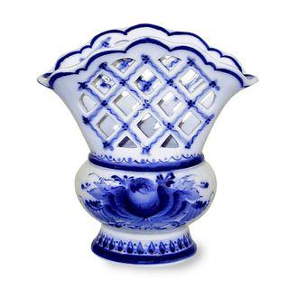 Napkin holder with Openwork 1st grade, Gzhel Porcelain factory
