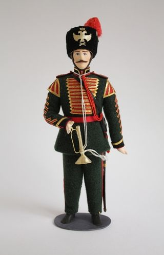 Doll gift. Senior trumpeter of the Life Guard of the 6th horse-artillery batteries 1858-62гг. Russia.