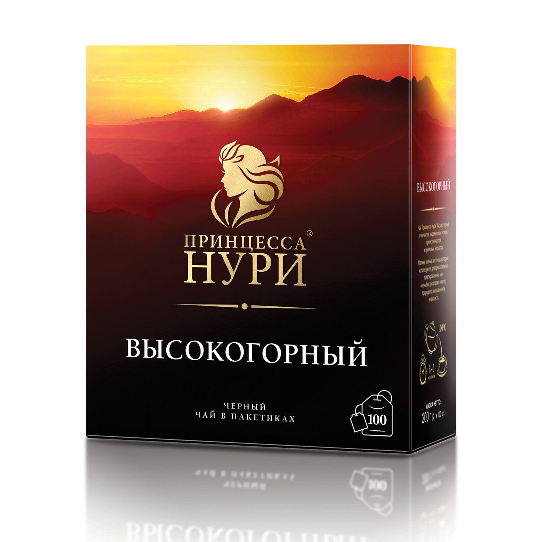"PRINCESS NURI / Tea ""Alpine"", black, 100 sachets of 2 g"