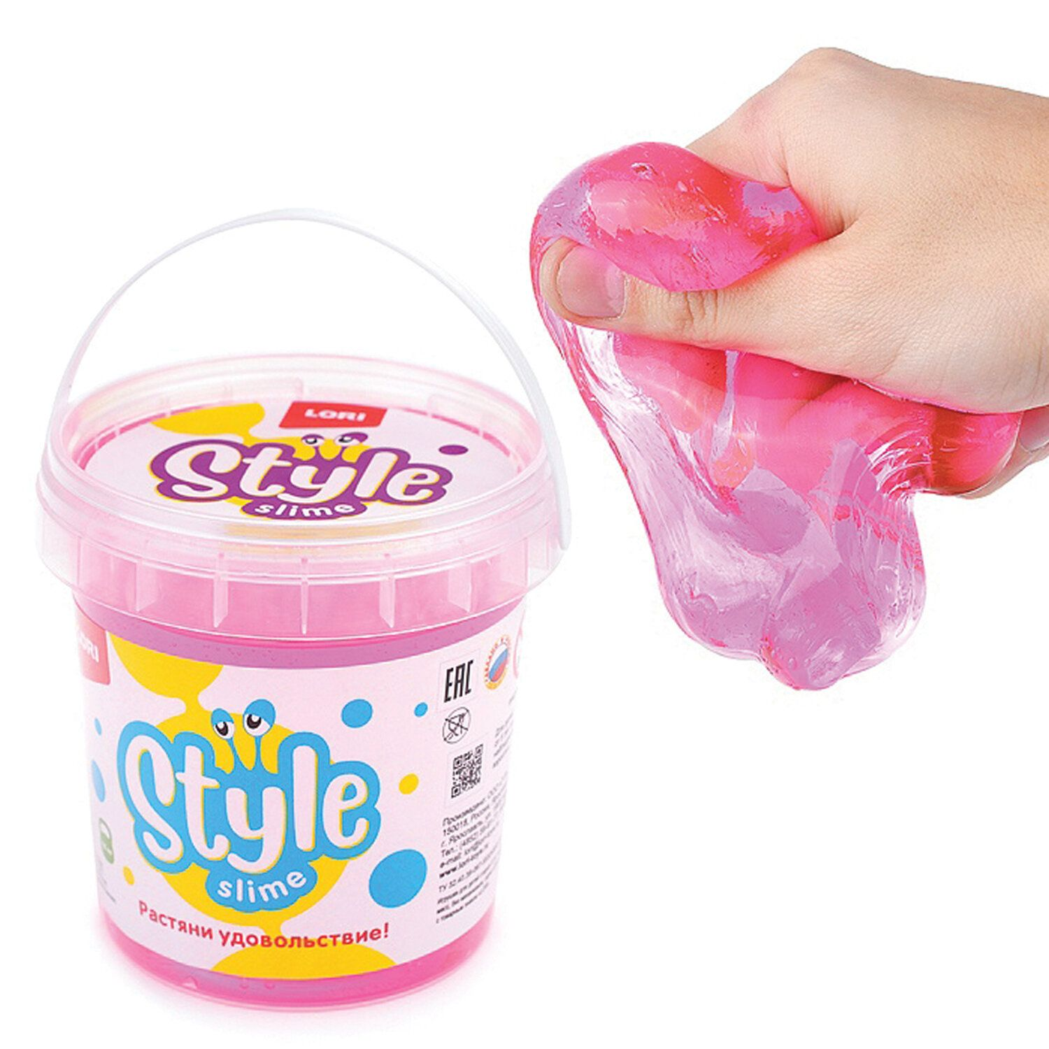 """Slim Style Slime Classic """"Pink with Cherry Flavor,"""" 150 ml, LORI"""