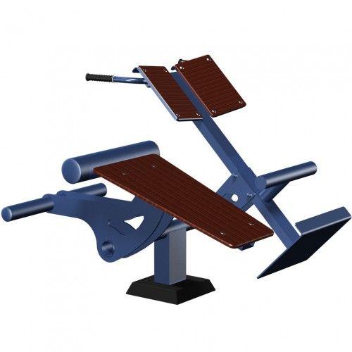 MB Barbell / Press (tilt angle +20 degrees) + Hyperextension