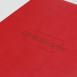BRAUBERG / Diary LATTE 1-11 grade 48 sheets, leatherette cover (light), thermal embossing, red