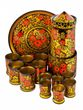 "Wine set ""Kremlin Tower"", Khokhloma painting, 14 items - вид 1"