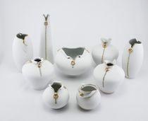 Vase. White Gold Series - Lightning