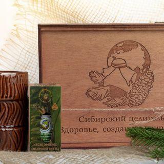 Essential oil of Siberian fir, gift set aromalamps