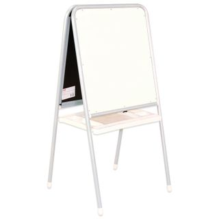 Board easel double-sided chalk and magnetic marker (48х53 cm) gray/grey, DEMI