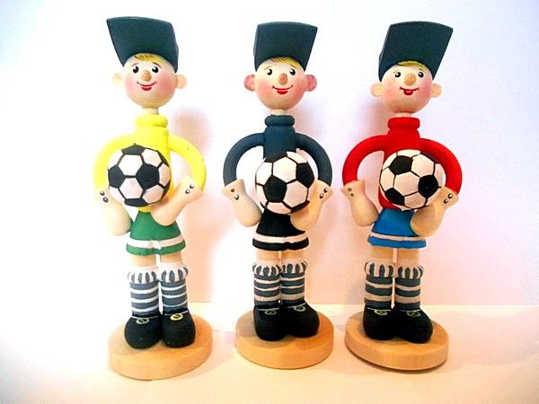 Tver souvenirs / Football player doll, 3 pcs.