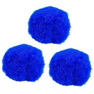 POM-poms for creativity, blue, 25 mm, 20 PCs., TREASURE ISLAND