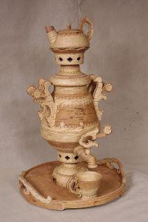 "Tea set with a samovar ""Tsvetozar"", capacity of 5 liters"