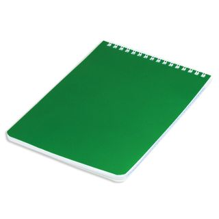 BRAUBERG / Notepad Green, 60 sheets A5 (146x205 mm), comb, tear-off perforation, varnished