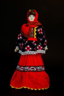 Doll gift porcelain. Russia. Traditional Cossack costume.19th century.