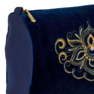 "Velvet cosmetic bag ""Game"" blue"