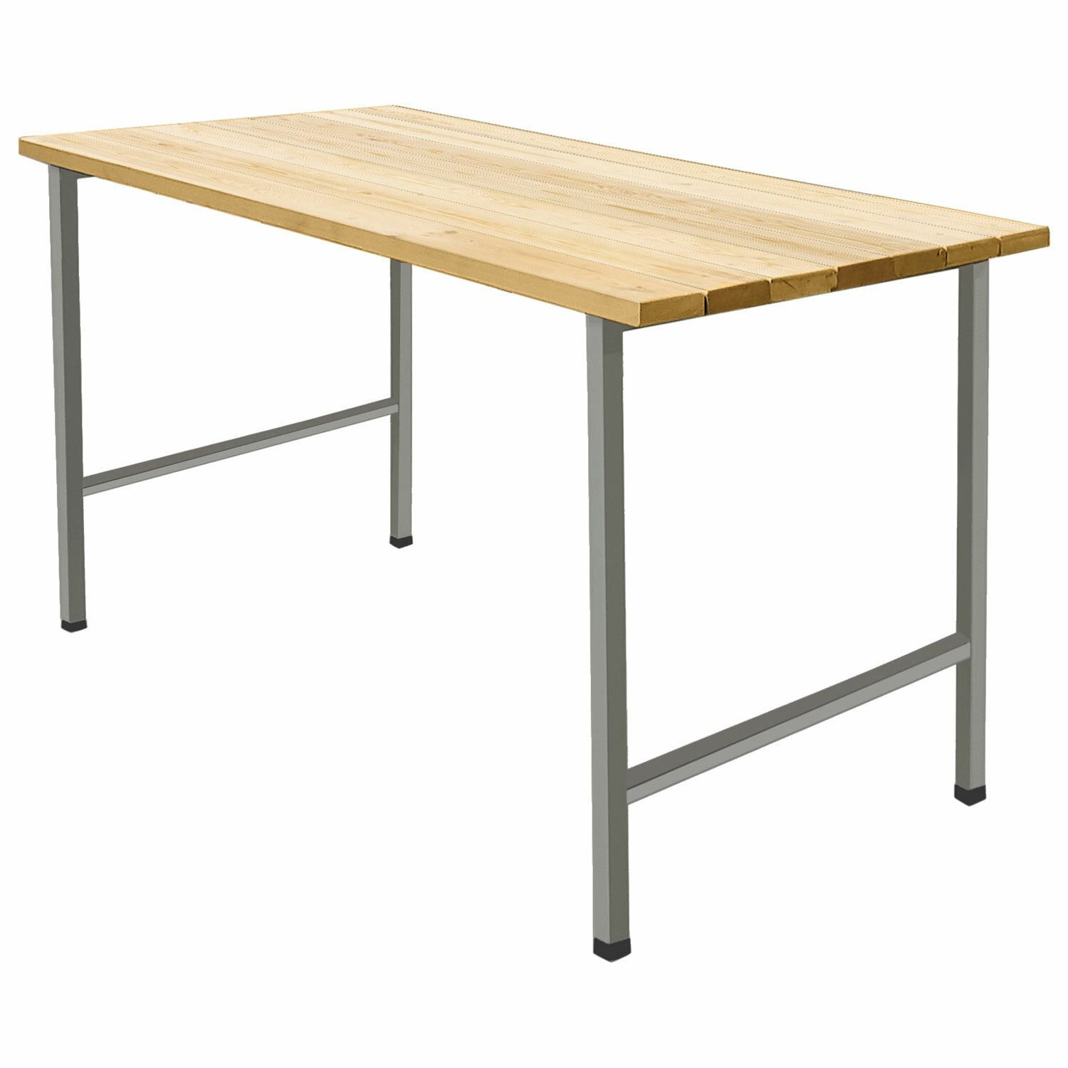 """Table dining on metal frames """"D-261C,"""" 1300 x625 x760 mm, gray frame, wood"""