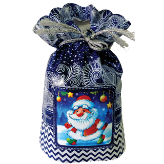 "New Year's gift Bag blue ""Santa Claus"", a set of chocolates 750g."