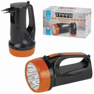 TROPHY / LED Flashlight TSP10, 15 x LED, rechargeable, charge from 220 V