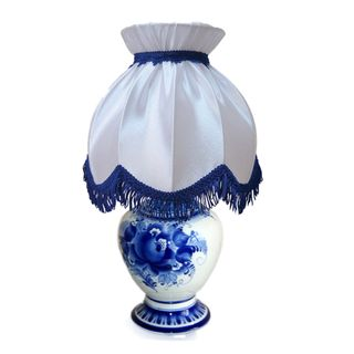 The VEGA lamp shade Retro white, Gzhel Porcelain factory