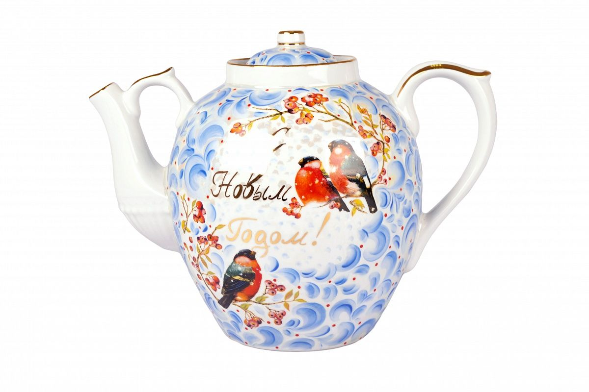 Dulevo porcelain / Teapot 4500 ml Happy New Year Korisheva