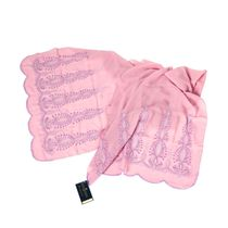 Tippet Skazka pink color with silk embroidery