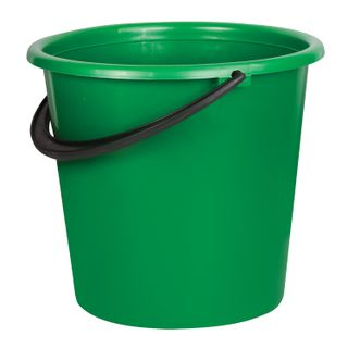 LIME / Bucket 10 l, without lid, plastic, household, ENHANCED, assorted color, measuring scale