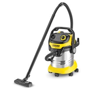 Vacuum cleaner KARCHER WD 6 P Premium, with dust bag, 1300 watt, socket, blow moulding, container stainless steel