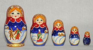 Vyatka souvenir / Painted matryoshka 5 ave.