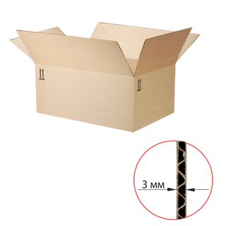 Corrugated box, 500 x 370 x 240 mm, grade T22, profile B, FEFCO 0202 / GOST, version B