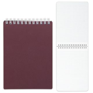 HATBER / Bordeaux notebook, 80 sheets A5 (145x205 mm), comb, plastic cover, cage
