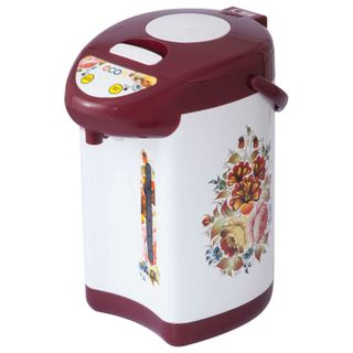 ECON ECO-400TP thermopot, 600 W, 4 litres, 3 water supply modes, metal, white with red