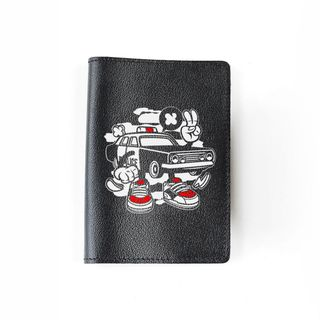 "Passport cover ""Police car"" black"