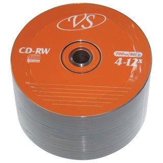 VS / Discs CD-RW 700 Mb 4-12x Bulk, SET 50 pcs.