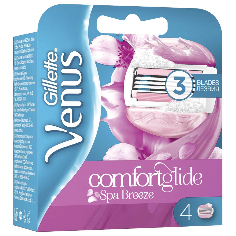 Replacement shaving cassettes 4 pcs. GILLETTE VENUS SPA Breeze, for women