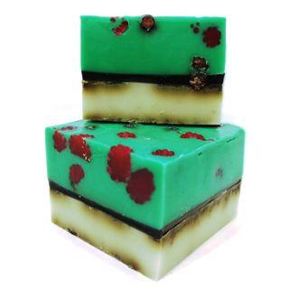 Handmade bar soap with herbs Raspberry 500 gr