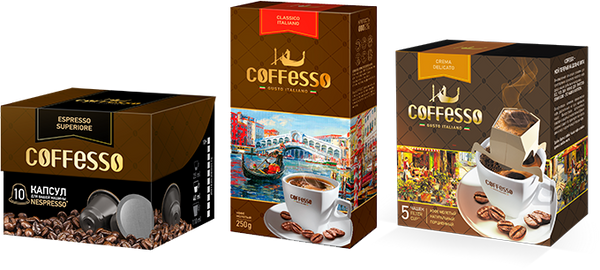 Coffesso - natural ground coffee