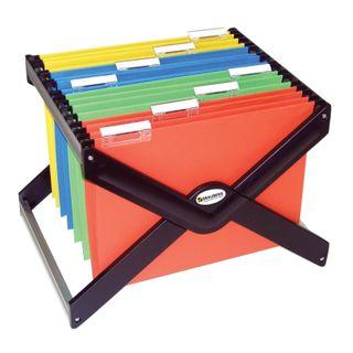 Stand for hanging folders BRAUBERG (Italy), up to 40 folders of A4/Foolscap, 410х275х320 mm, black