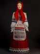 Doll gift porcelain. Southern Russia. Philistine maiden costume. The end of the 19th century. - view 1