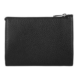 Purse women's FABULA, 133х97 mm, genuine leather, zipper, black